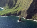 Habitat aerial at Huelo Islet and Papaiki Flats North Shore, Molokai, Hawaii (USA). July 02, 2012.